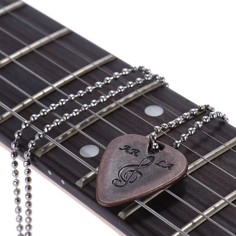 electric guitar pick necklace metal with 50cm 20in ball chain for sale us coffe tomtop. Black Bedroom Furniture Sets. Home Design Ideas