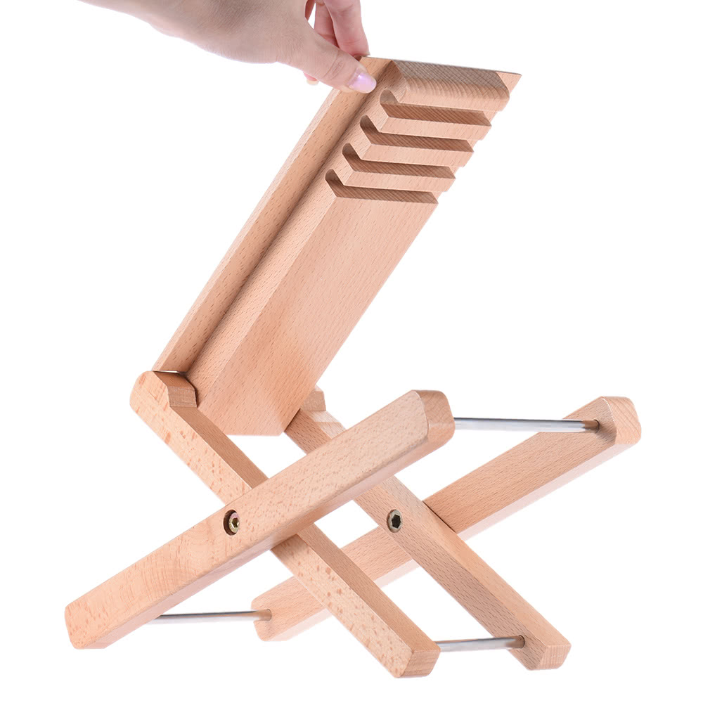 Foldable Wooden Guitar Foot Rest Stool Pedal 4 Level