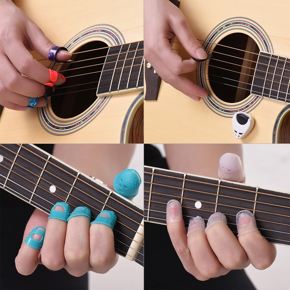Guitar Accessories Kit Includes 20pcs Silicone Guitar Finger
