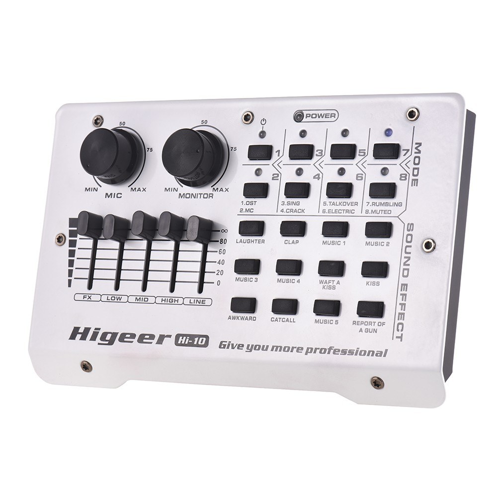 Portable External Sound Card Mixing Console 8 Modes 12 Sound Effects for  Smartphone Computer Network Broadcast Online Singing Recording Live Video