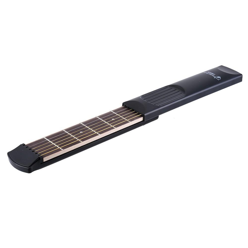 Portable Pocket Acoustic Guitar Practice Tool Gadget 6 String 6 Fret Model Beginner