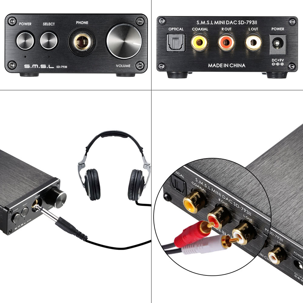 S.M.S.L SD-793II Mini Portable HiFi DAC Digital Coaxial/Optical Stereo Sound Audio Decoder Converter Headset Headphone Amplifier Amp