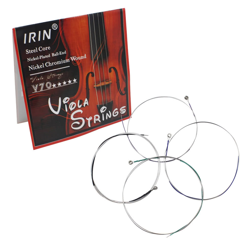 Universal Full Set (A-D-G-C) Viola String Strings Steel Core Nickel Chromium Wound Ball End