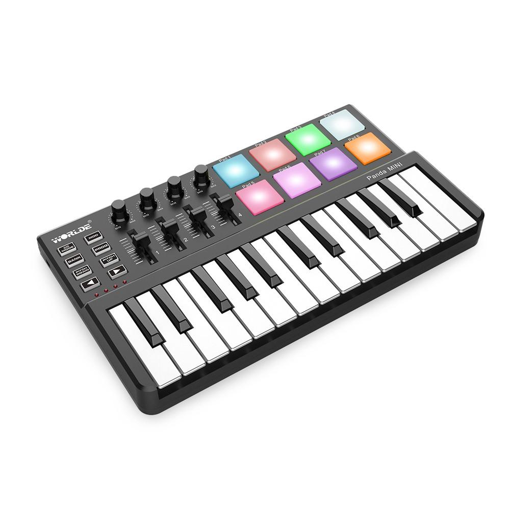 WORLDE Panda MINI 25-Key Ultra-Portable USB MIDI Keyboard Controller