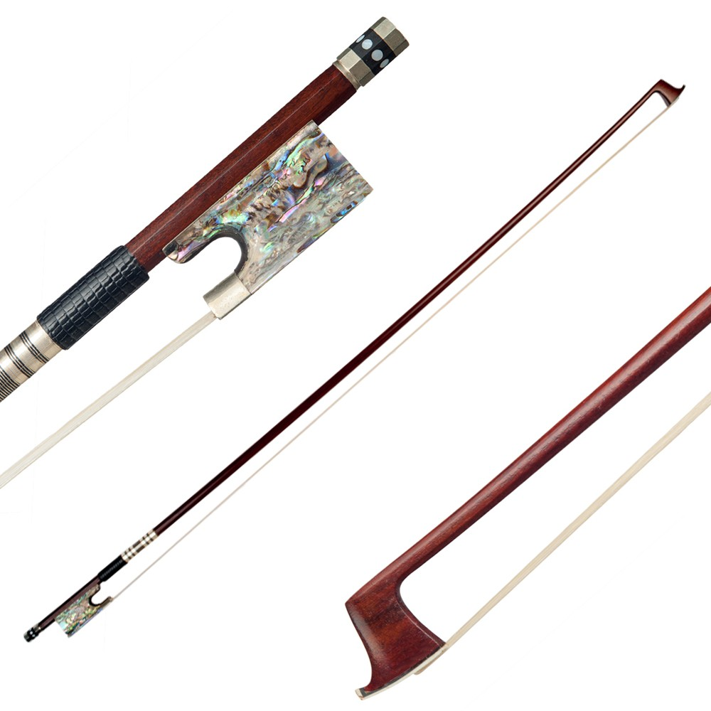 tomtop.com - 45% OFF 4/4 Violin Fiddle Bow Pernambuco Wood Abalone Shell Frog, Limited Offers $84.14