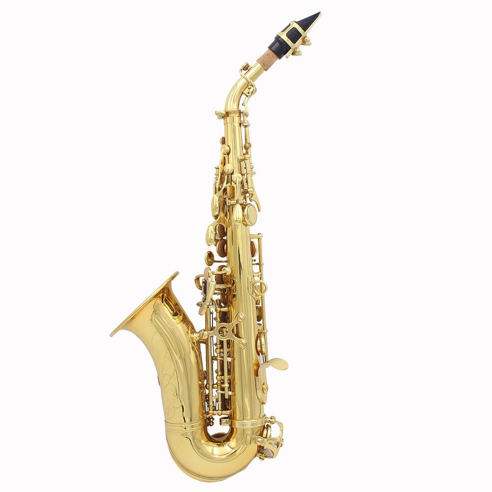 LADE Brass Golden Carve Pattern Bb Bend Althorn Soprano Saxophone for Sale - US$225.99 gold | Tomtop
