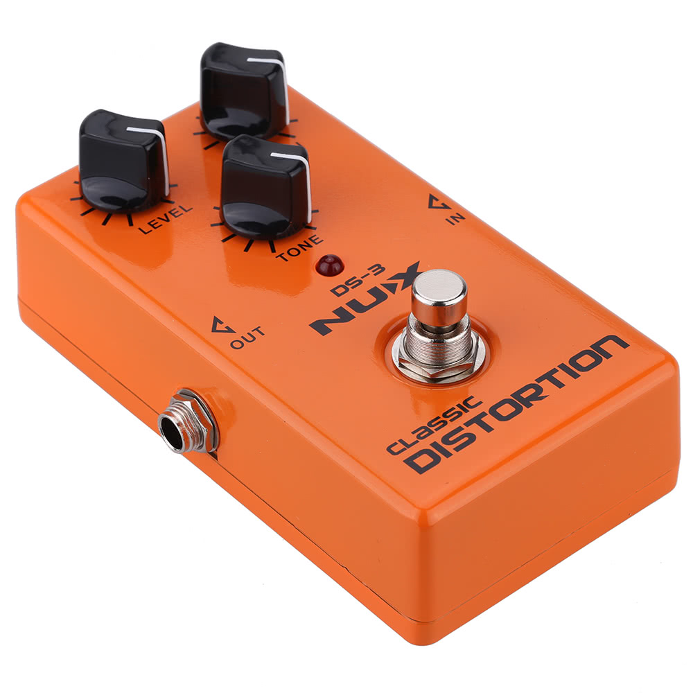 nux classic distortion electric guitar effect pedal true bypass for sale us orange tomtop. Black Bedroom Furniture Sets. Home Design Ideas