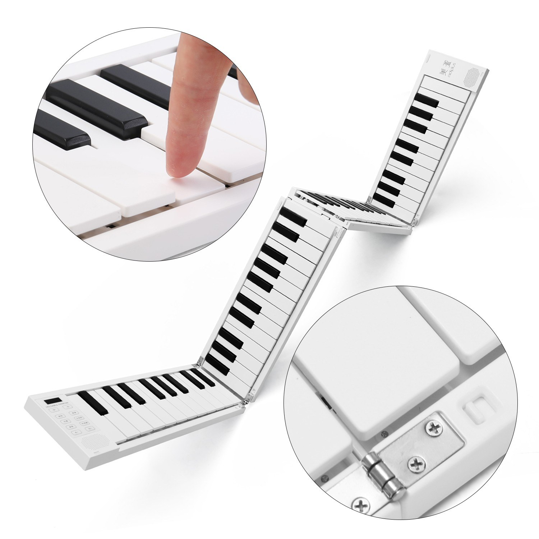 Tomtop - [EU Warehouse] 59% OFF 88 K-eys Foldable Piano Digital Piano Portable Electronic Keyboard, $95.99 (Inclusive of VAT)