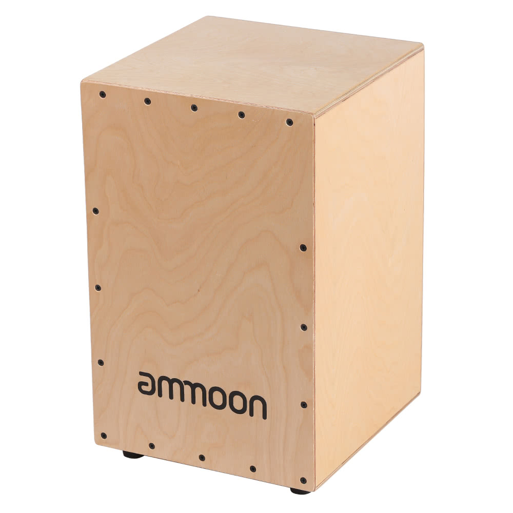 ammoon wooden drum box cajon hand drum persussion instrument with stings rubber feet 30 31. Black Bedroom Furniture Sets. Home Design Ideas