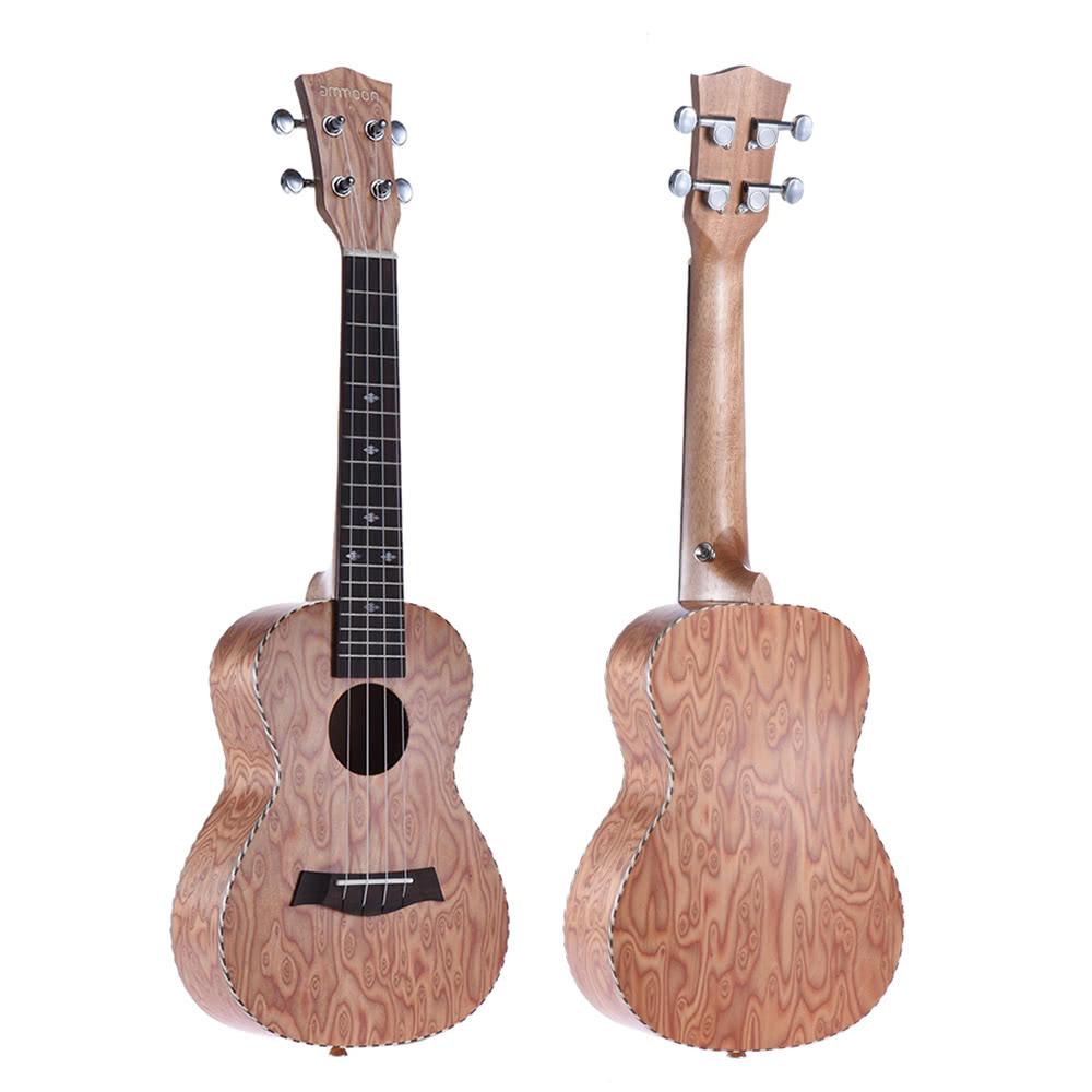 ammoon 24 acoustic wooden soprano ukulele ukelele uke 18 frets 4 strings okoume neck rosewood. Black Bedroom Furniture Sets. Home Design Ideas