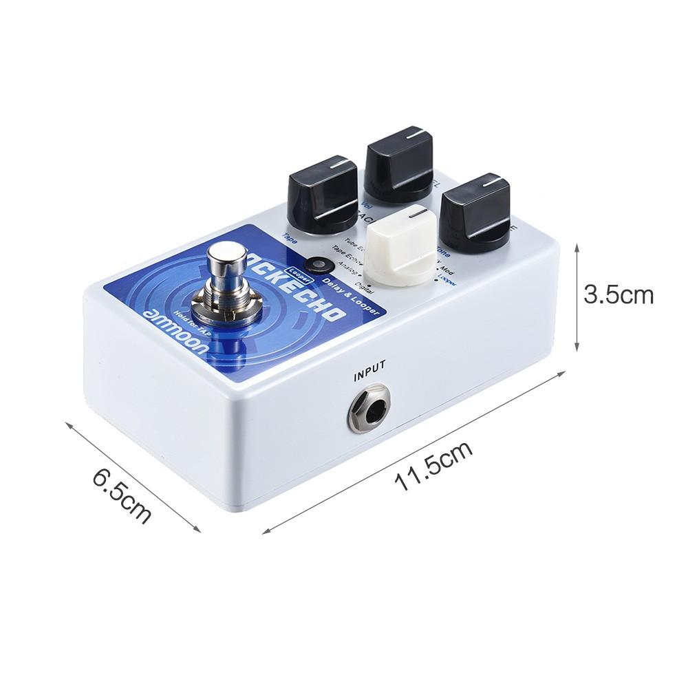 ammoon pockecho delay looper guitar effect pedal for sale us 1 tomtop. Black Bedroom Furniture Sets. Home Design Ideas