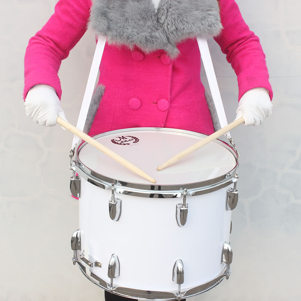 14in marching drum stainless steel maple wood body pvc drumhead with sticks shoulder strap key. Black Bedroom Furniture Sets. Home Design Ideas