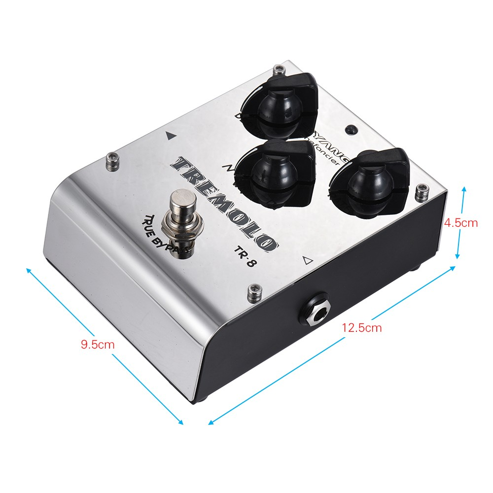 biyang tr 8 tonefacier series tremolo guitar effect pedal true bypass full metal shell for sale. Black Bedroom Furniture Sets. Home Design Ideas
