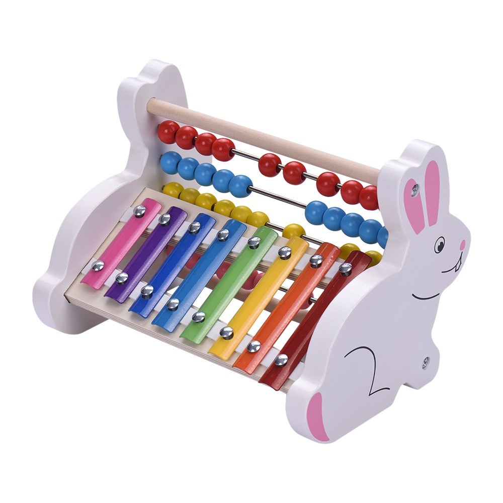 2 in 1 wooden 8 notes xylophone glockenspiel abacus beads for sale us 1 tomtop. Black Bedroom Furniture Sets. Home Design Ideas