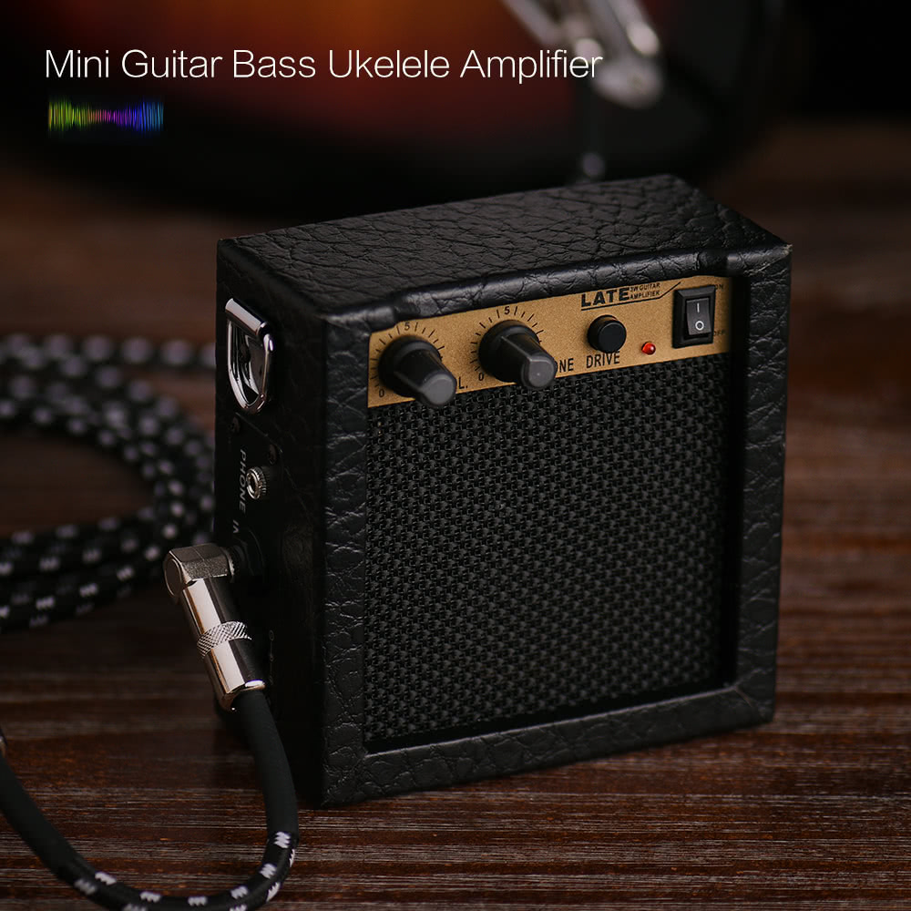 mini guitar bass ukulele ukelele amp amplifier speaker for sale us black tomtop. Black Bedroom Furniture Sets. Home Design Ideas