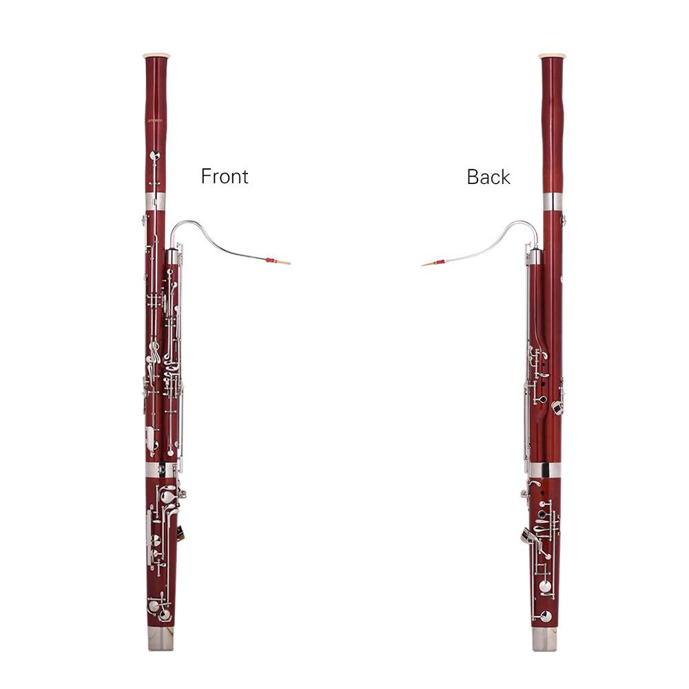 ammoon Professional C Key Bassoon Woodwind Instrument
