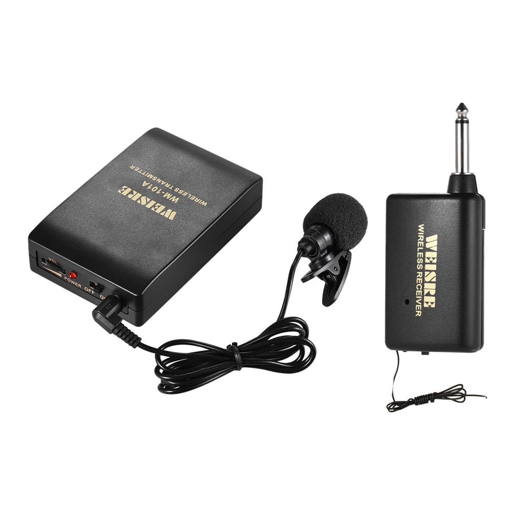 7325-OFF-Portable-Lavalier-Lapel-Collar-Clip-on-FM-Wireless-Microphone-System-Voice-Amplifierlimited-offer-24899