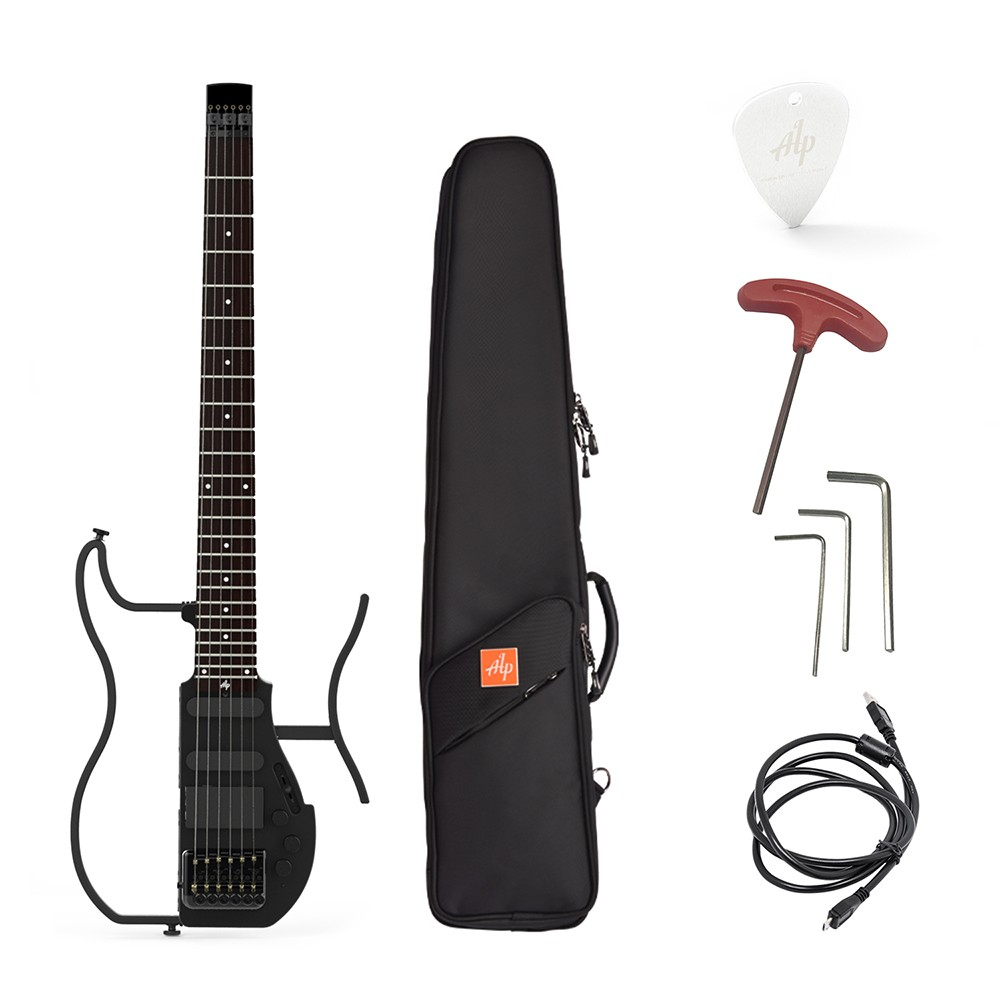alp ad 80 professional foldable headless travel electric guitar built in headphone amplifier. Black Bedroom Furniture Sets. Home Design Ideas