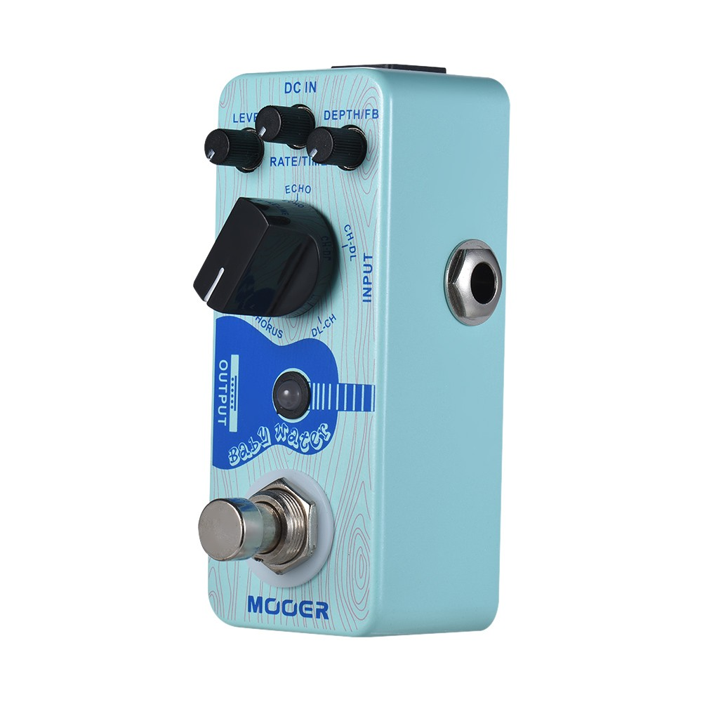 MOOER Baby Water Acoustic Guitar Delay & Chorus Effect Pedal True Bypass Full Metal Shell