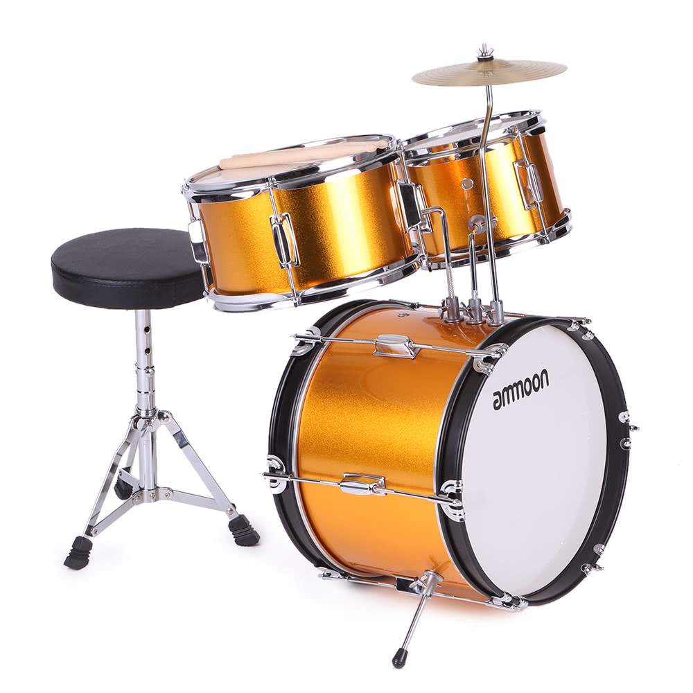 Ammoon 3 Piece Kids Children Junior Drum Set Drums Kit