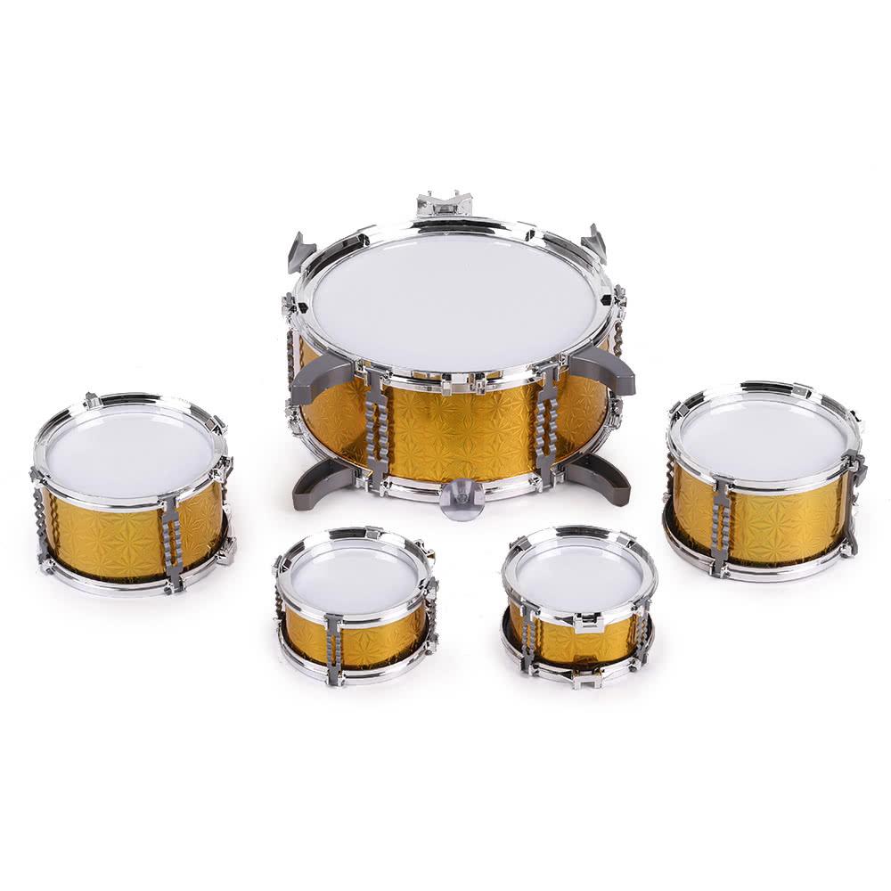 Children Kids Drum Set Musical Instrument Toy 5 Drums With