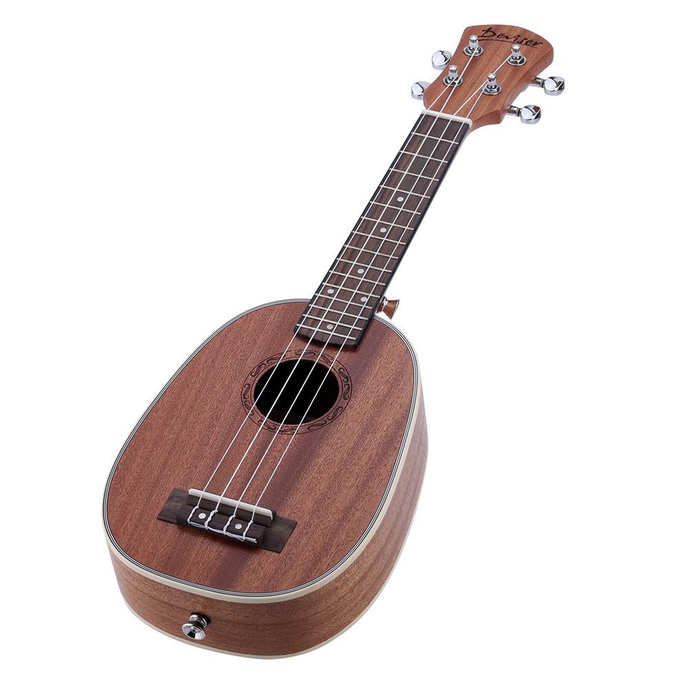 21 pineapple shaped soprano ukulele sapele ukelele matte for sale us 1 tomtop. Black Bedroom Furniture Sets. Home Design Ideas
