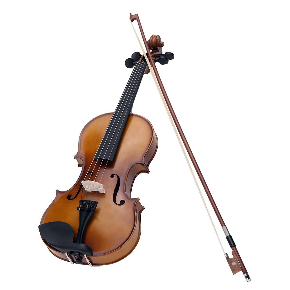 4 4 full size violin fiddle basswood steel string stringed musical instrument for kids beginners. Black Bedroom Furniture Sets. Home Design Ideas
