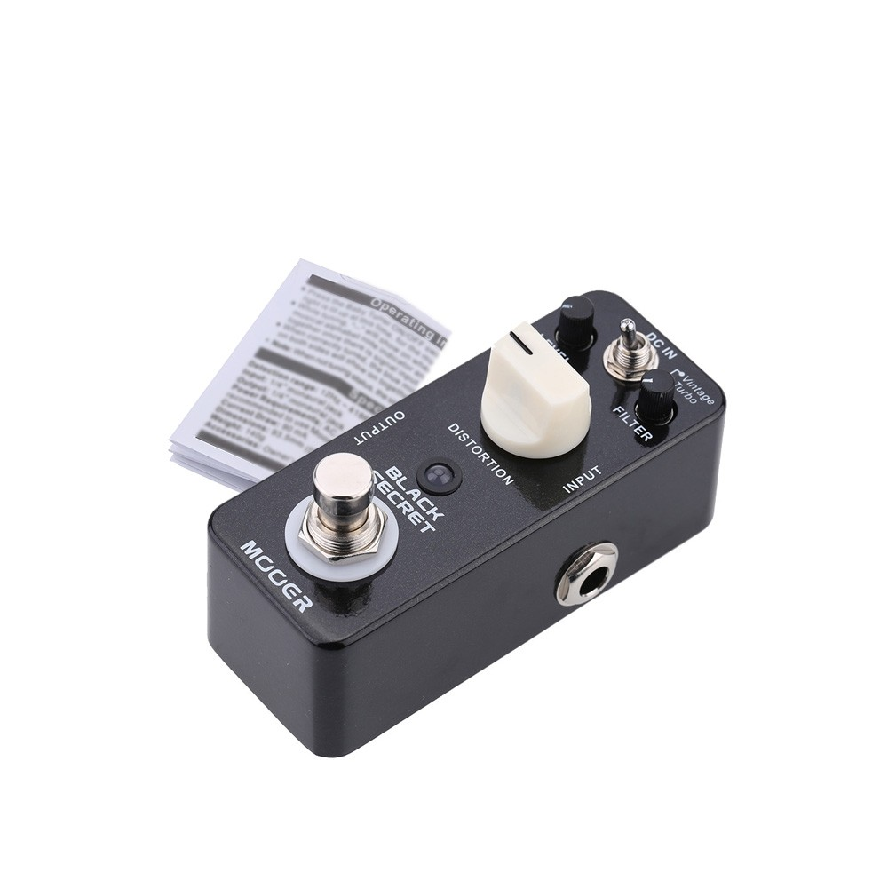 mooer black secret micro mini distortion electric guitar effect pedal true bypass for sale us. Black Bedroom Furniture Sets. Home Design Ideas