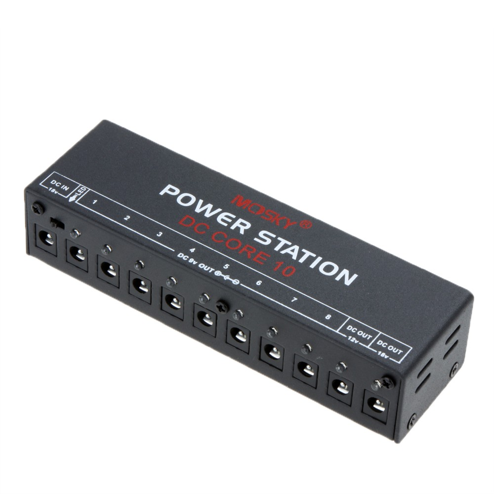 Dc Core10 Mini Power Supply For 9v 12v 18v Guitar Effect Pedal Ten Output Switching Isolated Outputs Compact Portable Sale Us3499 Us Tomtop