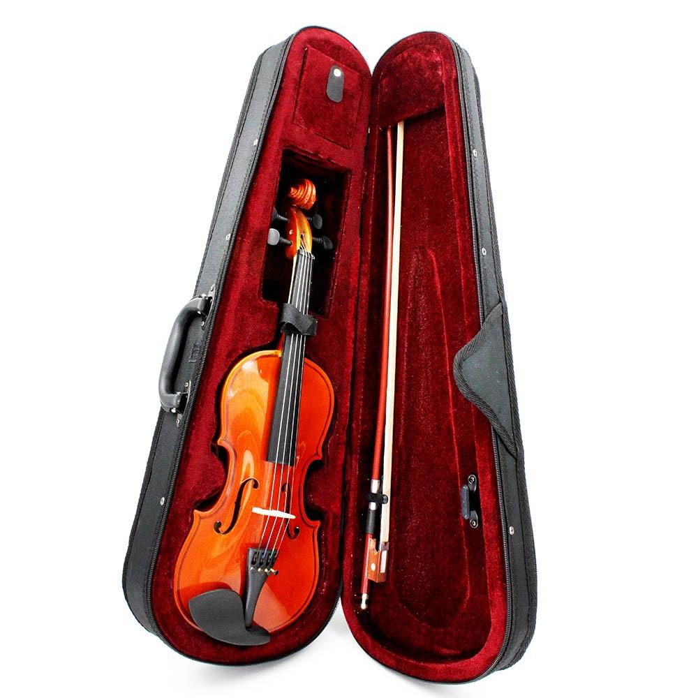 3 4 violin fiddle basswood steel string arbor bow stringed instrument musical toy for kids. Black Bedroom Furniture Sets. Home Design Ideas