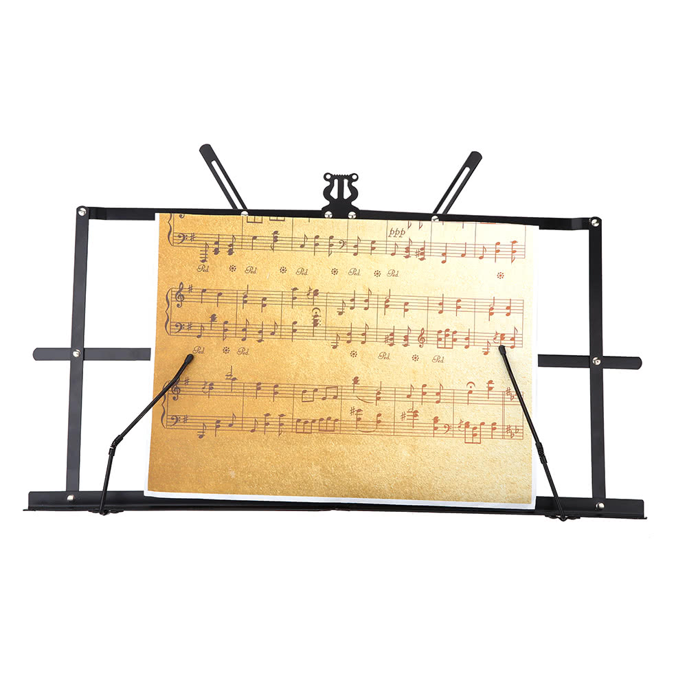 Tabletop Music Stand Metal Sheet Music Holder Folding Foldable with Waterproof Carry Bag for Sale - US$10.58 | Tomtop