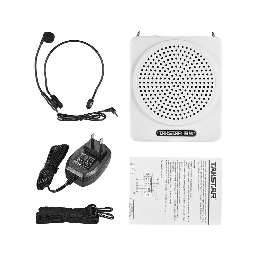 Takstar E180m 12w Rechargeable Portable Multimedia Voice Amplifier Audio Amp