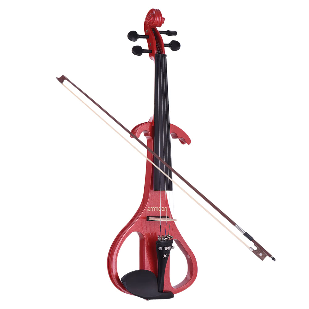 ammoon full size 4 4 solid wood electric silent violin for sale us 176 8 red tomtop. Black Bedroom Furniture Sets. Home Design Ideas