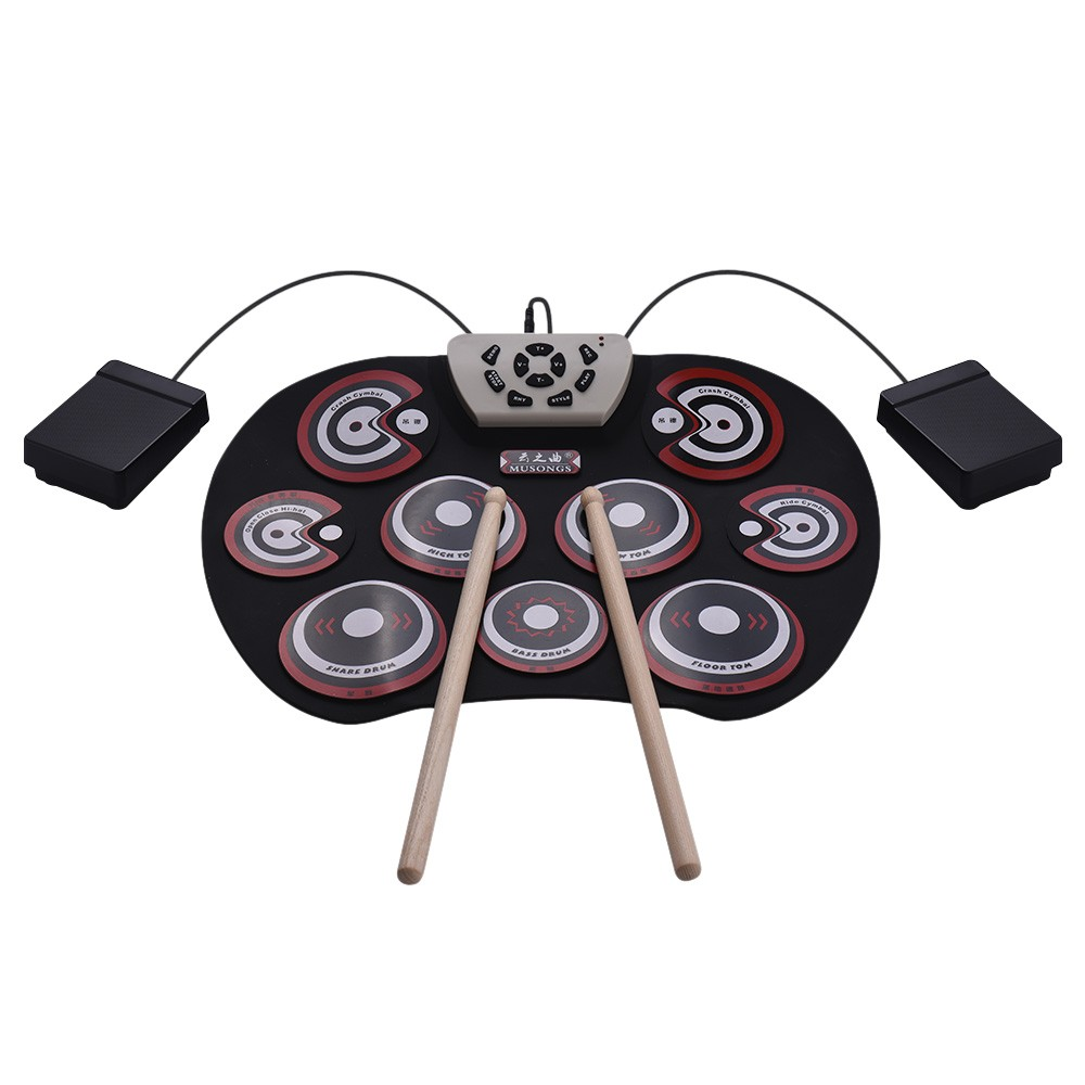 G800 Electronic Drum Pad USB Cable Foldable Roll Up Digital Drum Set for  Sale - US$37 99 red | Tomtop