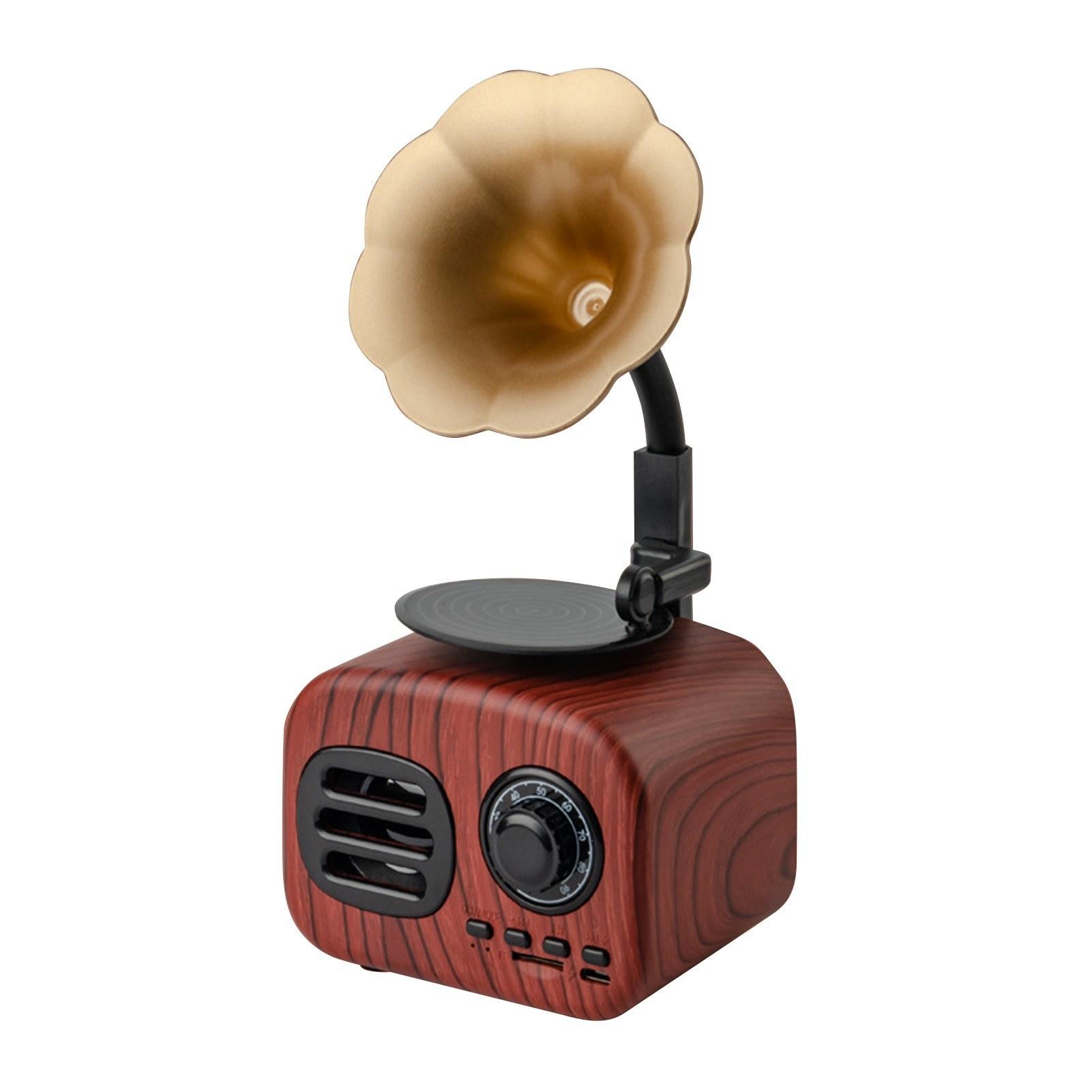 Tomtop - 52% OFF Retro Phonograph Style BT Speaker, $20.99 (Inclusive of VAT)