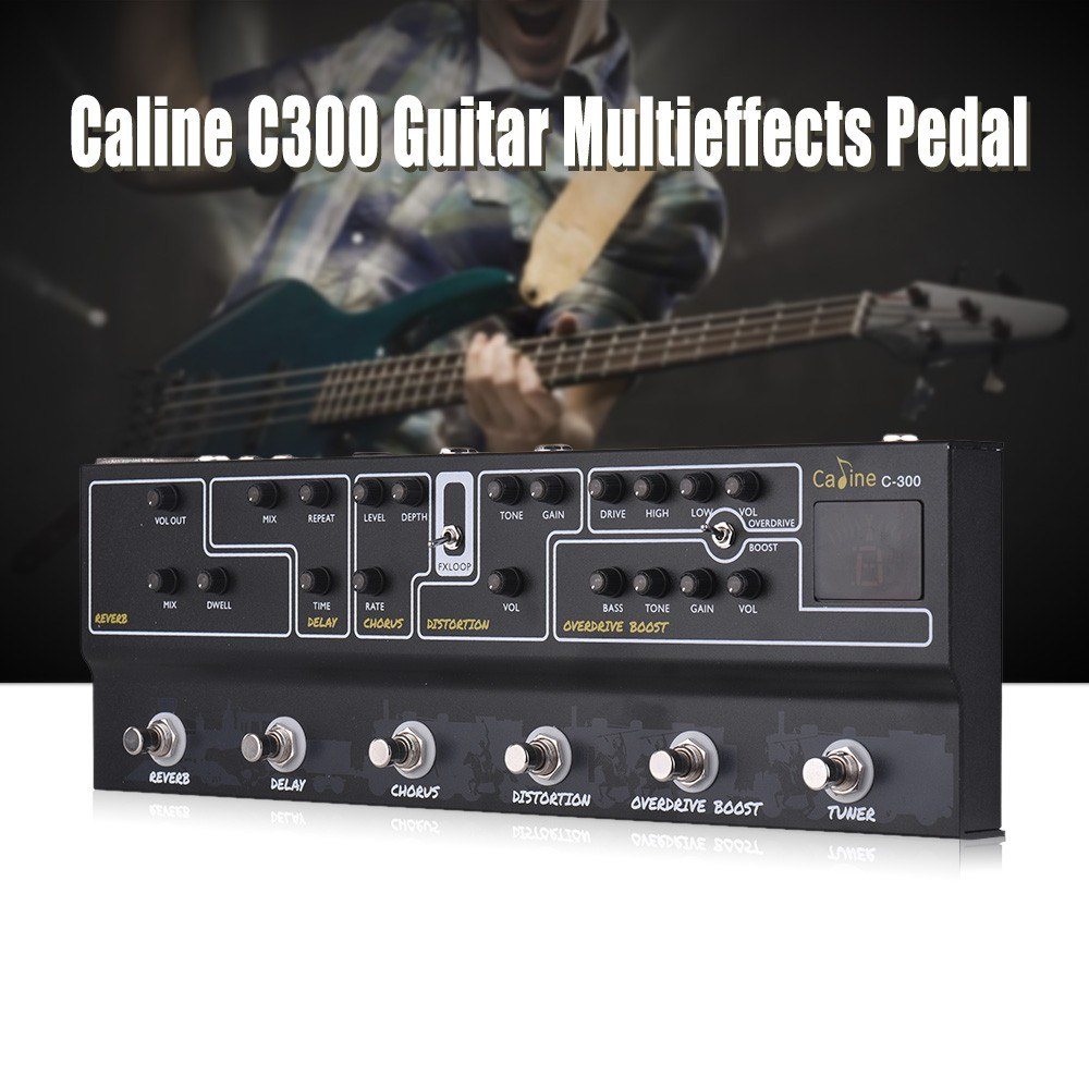 caline c300 guitar pedal all in one multi effects pedal for sale us 142 6 us tomtop. Black Bedroom Furniture Sets. Home Design Ideas