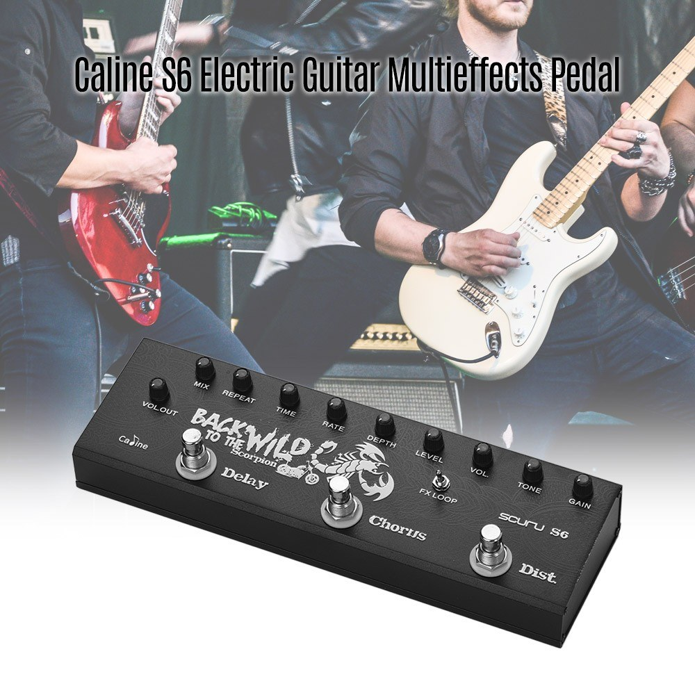 caline scuru s6 3 in 1 electric guitar pedal multieffect pedal for sale us eu plug tomtop. Black Bedroom Furniture Sets. Home Design Ideas