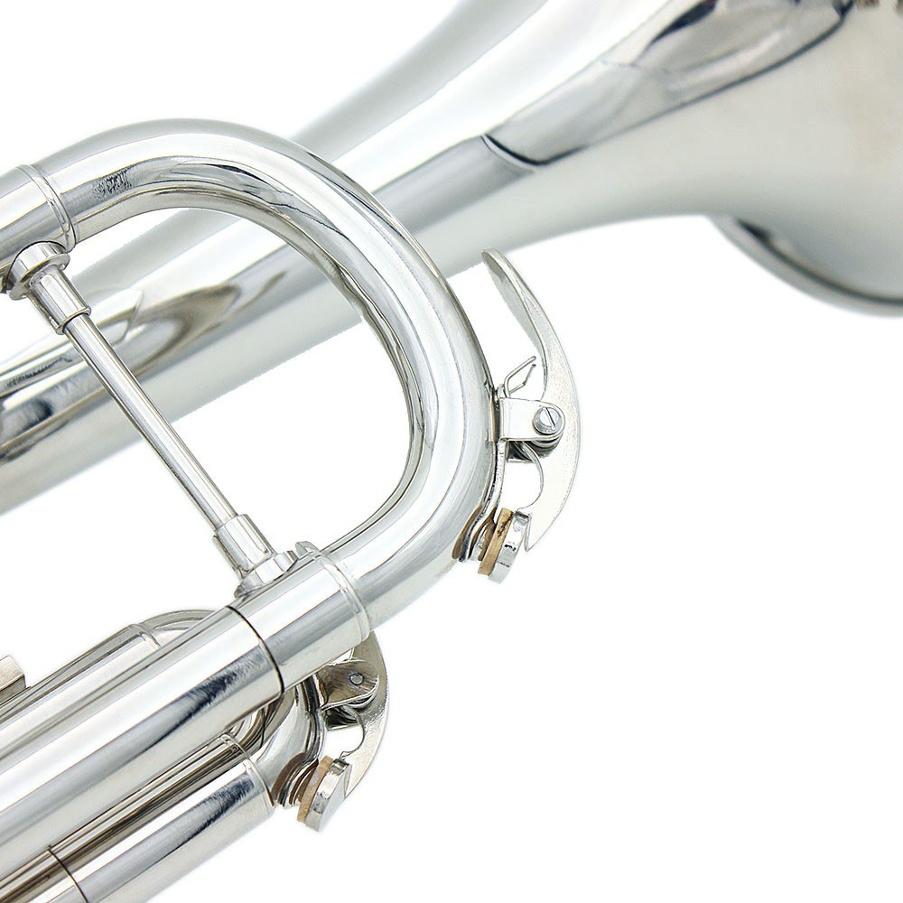 trumpet bb b flat brass exquisite with mouthpiece gloves for sale us all new silver. Black Bedroom Furniture Sets. Home Design Ideas