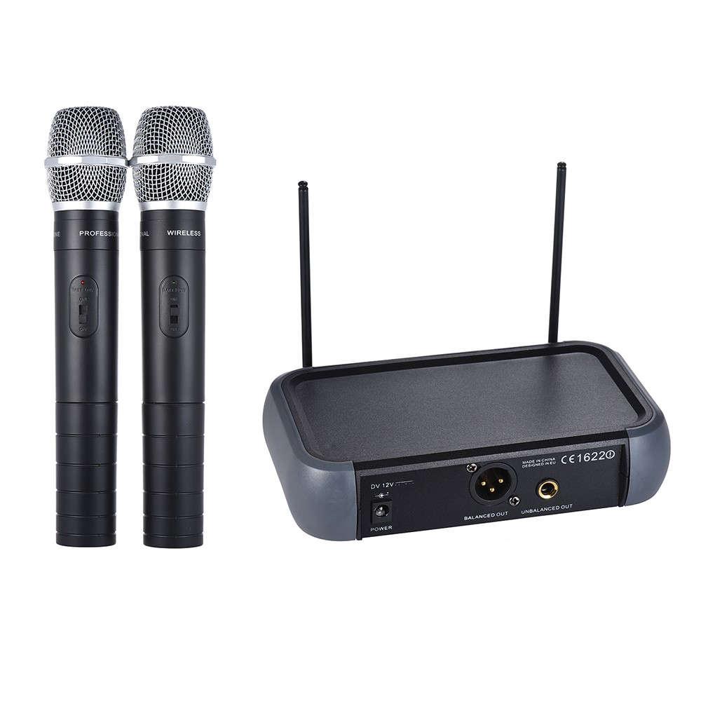 $3 OFF Ammoon Dual Channel VHF Wireless Handheld Microphone,free shipping $35.99