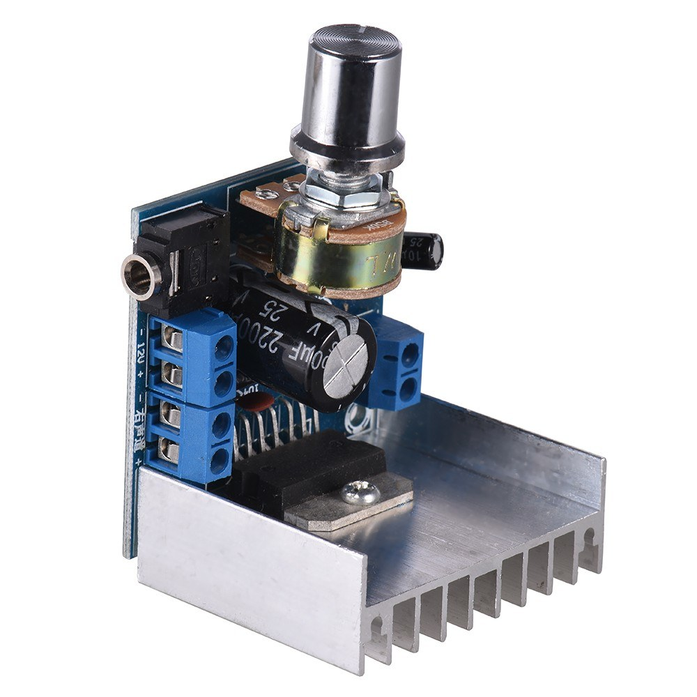 Stereo 2 0 Audio Amplifier Module 15W + 15W Dual-channel Mini Amp Board  Amplify DIY Circuit Board with Heatsink