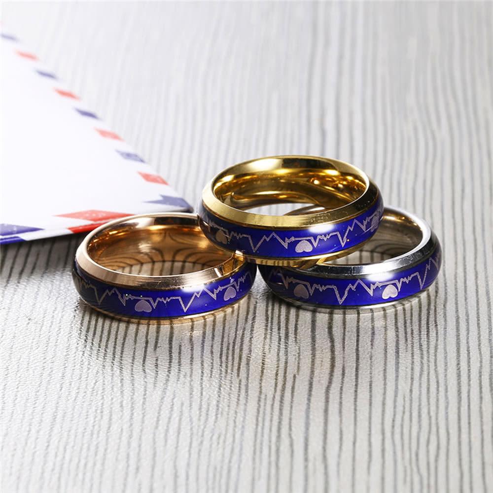 Anillo de humor creativo europeo de la emoción del color de la vendimia que  cambia el anillo de la personalidad para el regalo del partido de los amantes  de ... 40e6d810bc6