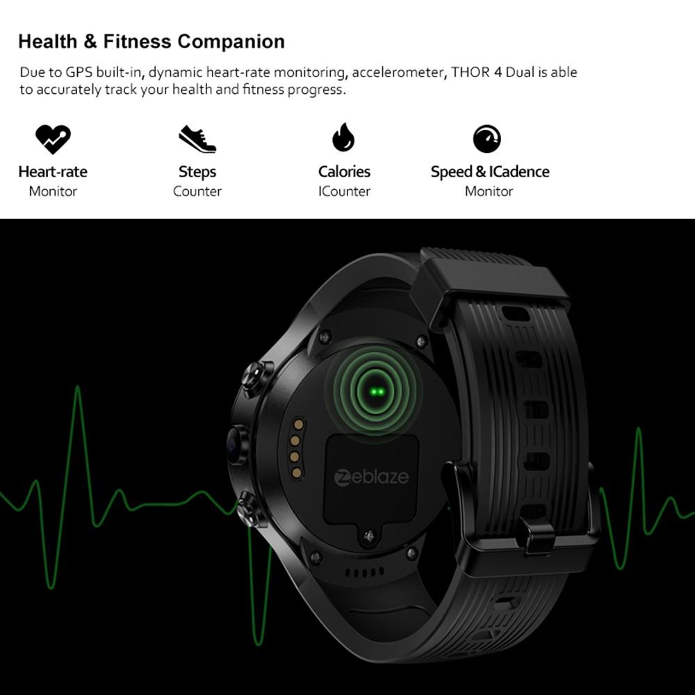 Best Zeblaze THOR 4 Dual Smart black Sale Online Shopping | Cafago com