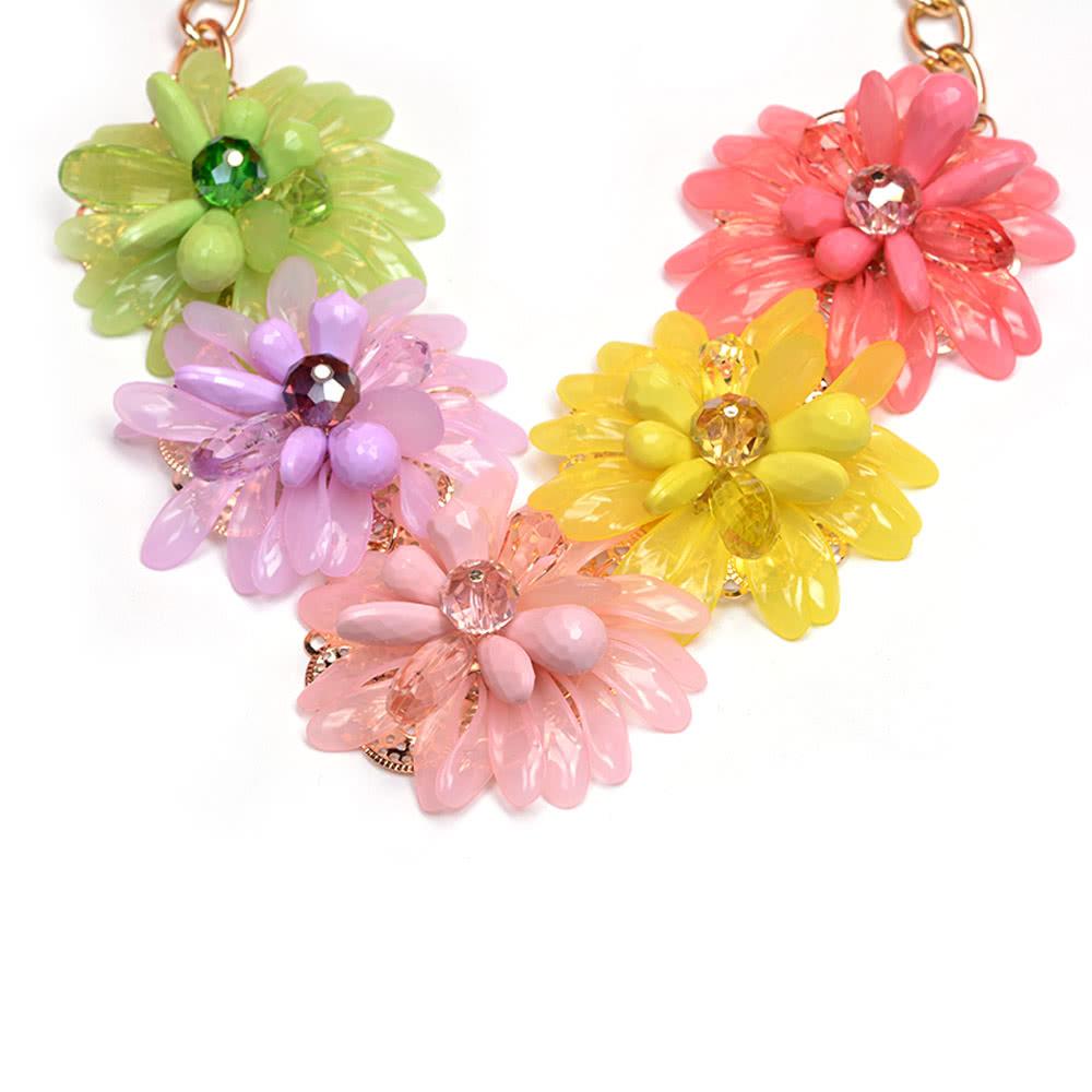 21e4b61f97db Mujer chica Vintage Retro flor girasol colgantes gargantilla collar cadena  joyería para regalo de fiesta de boda - Tomtop.com