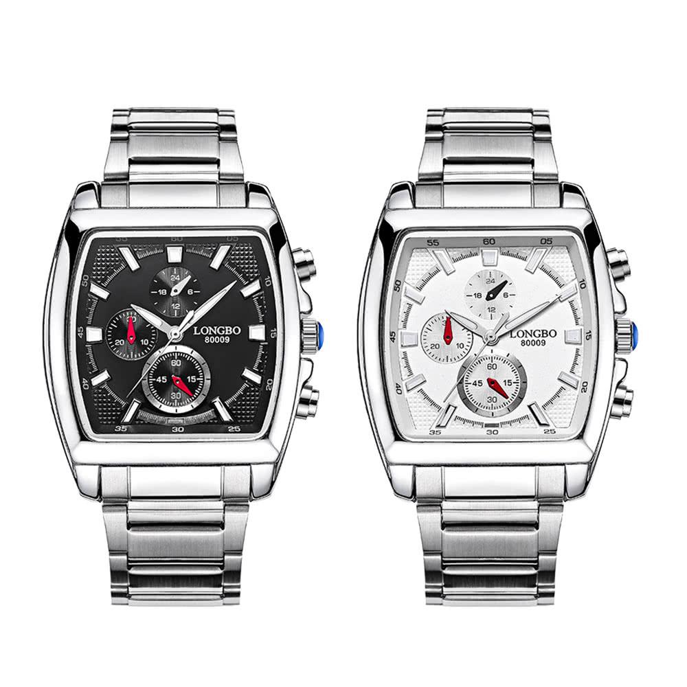 9c10c2b76cd Longbo Marca Moda Quartz Relógio de pulso Casual Luxury Retângulo Relógios  Homens Alloy Relógios Pulseira Relógio Masculino Militar 80009