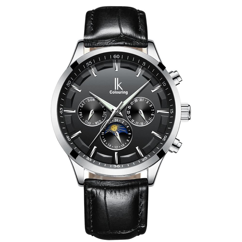 Beste IK FARBEN Luxus leuchtende automatische mechanische Uhr ...