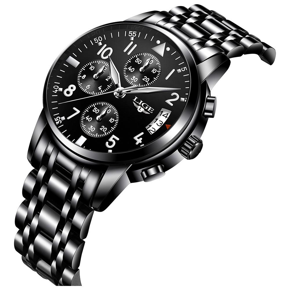 Nejlepší LIGE Fashion Luxusní hodinky z nerezové Prodej  498533d8a09