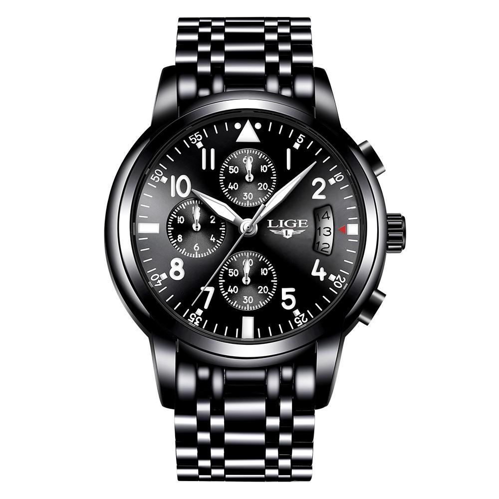 Nejlepší LIGE Fashion Luxusní hodinky z nerezové Prodej  322f62563fa