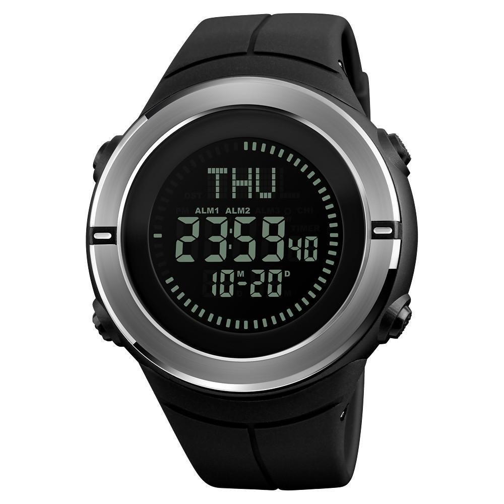 ed0e7615d7c SKMEI Men s 5ATM E-Compass resistente à água LED Relógio eletrônico Esportes  ao ar livre Relógios digitais Retroiluminação Alarme   Cronômetro    Contagem ...