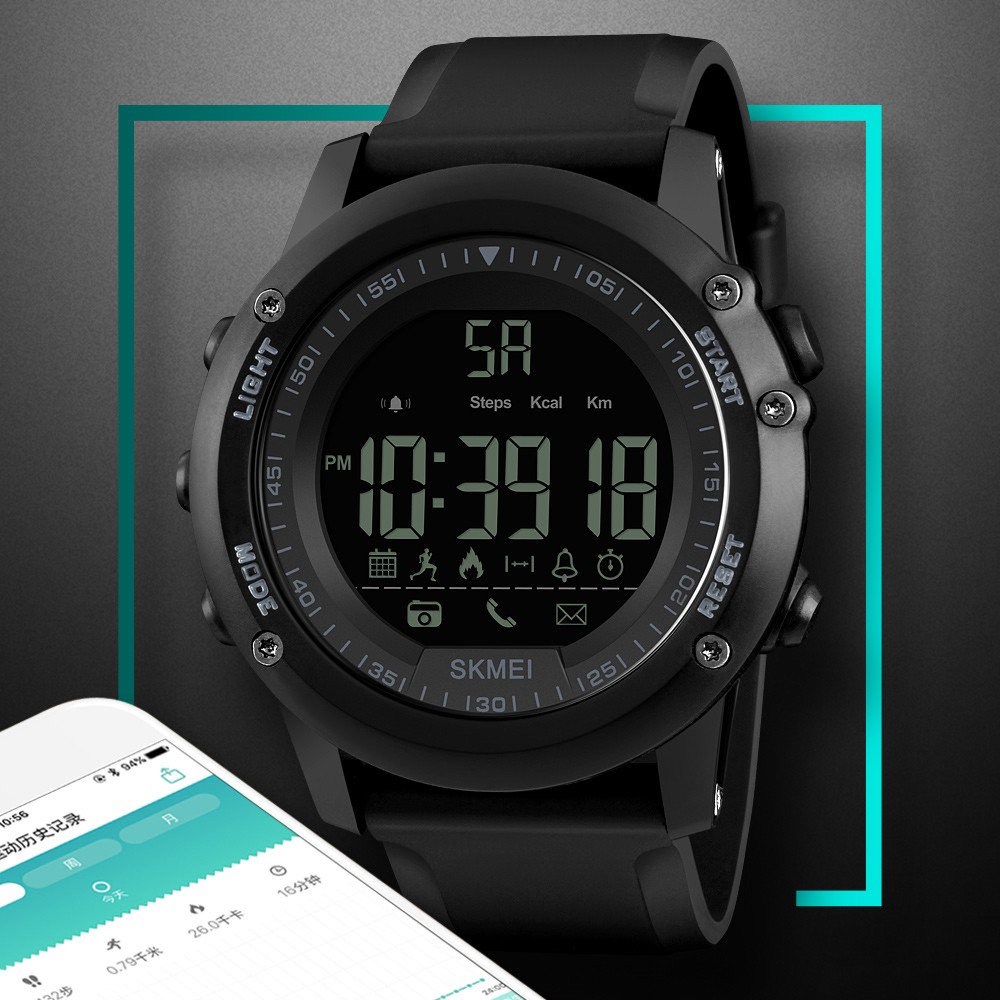 ef1e357fca6 SKMEI Sports Casual Men Smart Watch Intelligent Male Watches 5ATM  Water-resistant Call APP Reminder Remote Camera Sports Tracker BT Smart  Bracelet