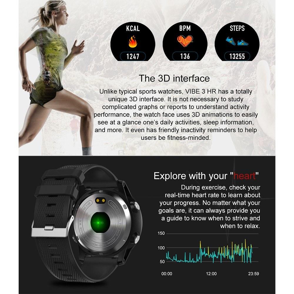 Zeblaze Vibe 3 Hr Smartwatch Black Online Shopping Tomtop